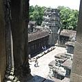 從Ankor Wat寺頂向下看