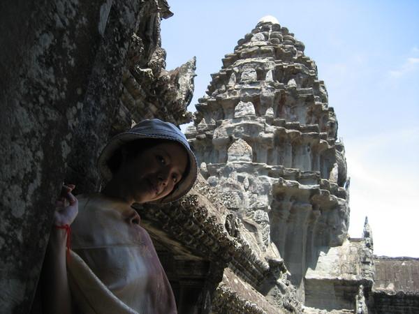 我在Ankor Wat寺頂