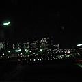 從羽田前往市區的夜景