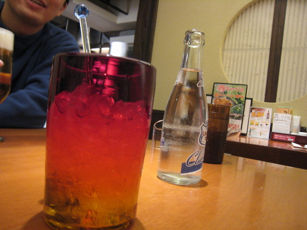 Hohoho...我的Ume shu+ soda water...讚!