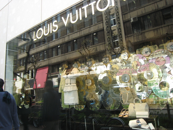 Louis Vuitton的櫥窗