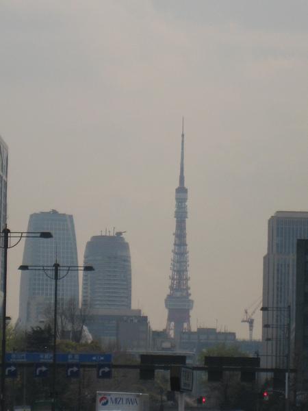 從皇宮看見的東京鐵塔