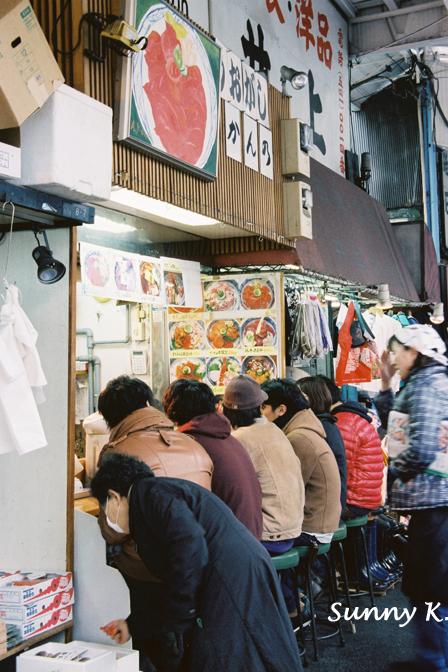 築地場外市場小店