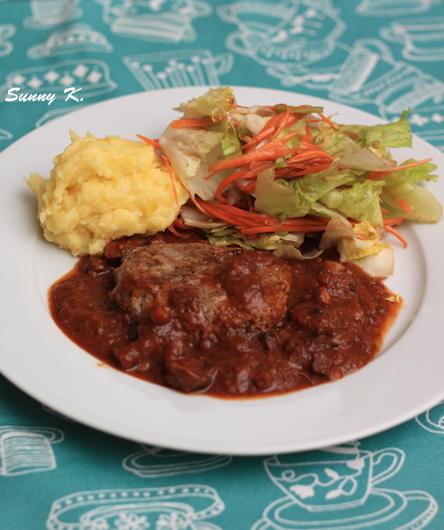 Burger steak with stew sauce