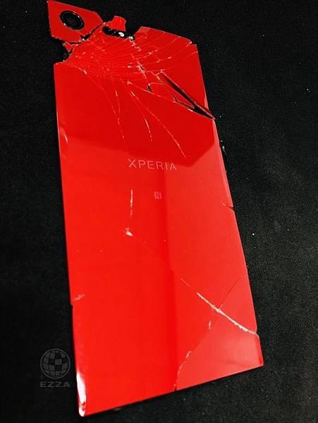 Sony XZ Premium背蓋破裂.jpg