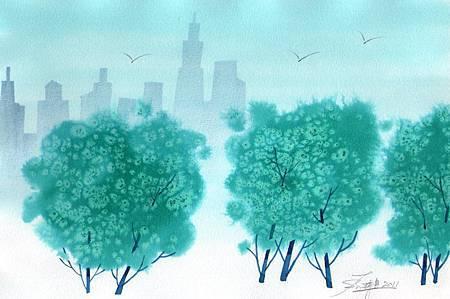 台北清晨的綠.jpg