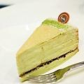 深藍咖啡館-抹茶千層蛋糕