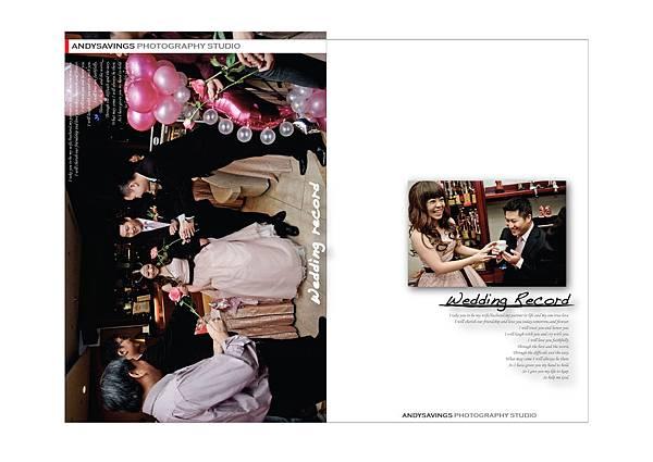 水晶光碟盒正面 婚禮記錄1111-01