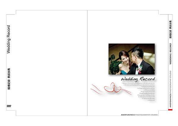 水晶光碟盒背面 婚禮記錄1110-01
