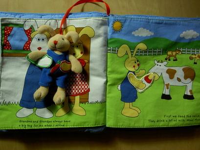 兔公兔媽抱一下