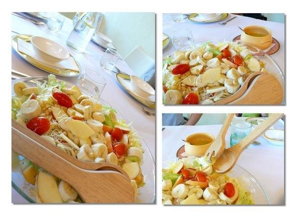 小王子花園-綜合沙拉+百香果醬汁.JPG