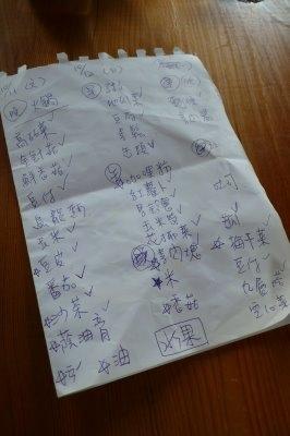 出發前擬的菜單.JPG