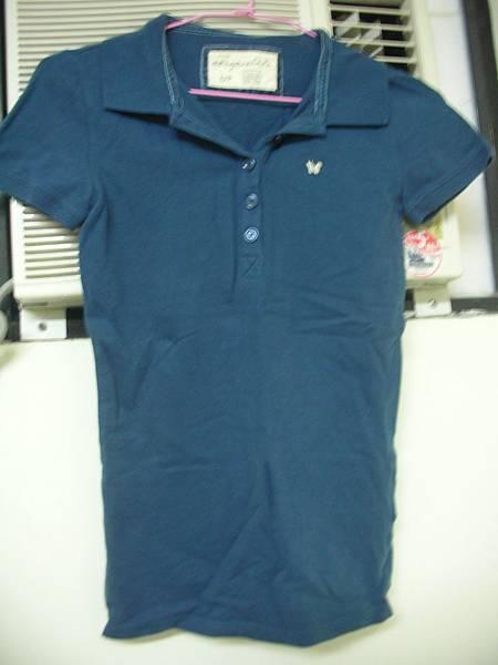 13. Aeropastale深藍色POLO衫 S號