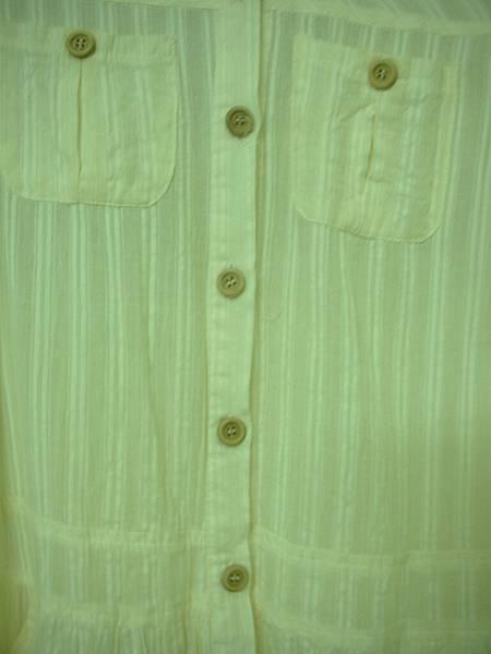 02. 鵝黃色直條紋長襯衫
