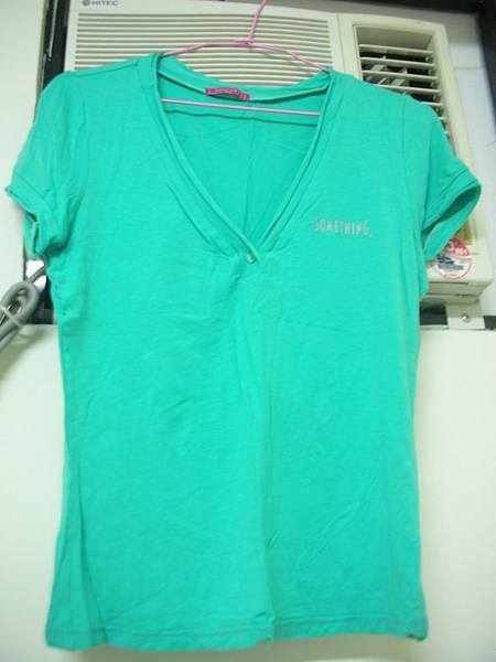 16. [全新] Something藍綠色V領T恤