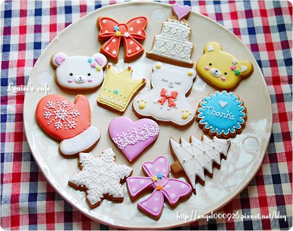 彩繪糖霜餅乾 - 最低訂購量10片 / 5種圖案 (1種圖案2片)