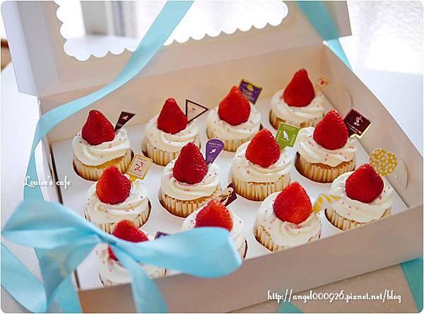 季節限定草莓杯子蛋糕 - 最低訂購量12個