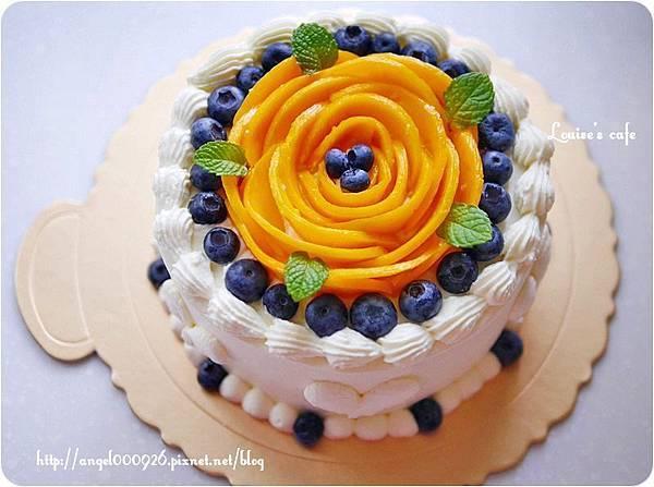 季節限定芒果藍莓鮮奶油蛋糕
