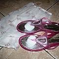 粉紅夾腳拖鞋