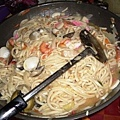 香噴噴的海鮮炒麵