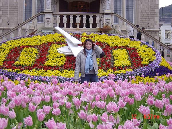 豪斯登堡-鐘樓前花壇