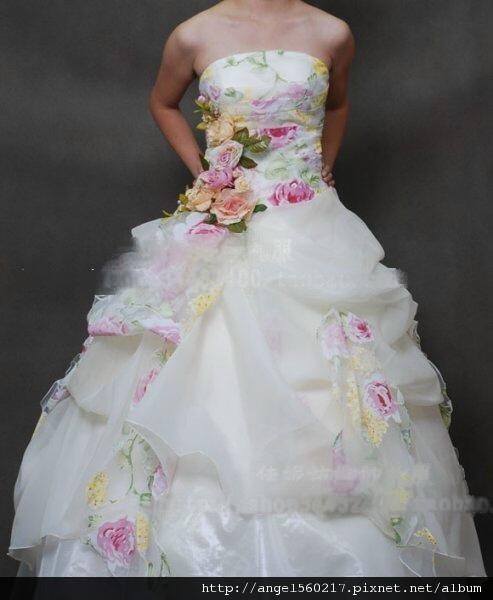 蛋糕裙婚紗1
