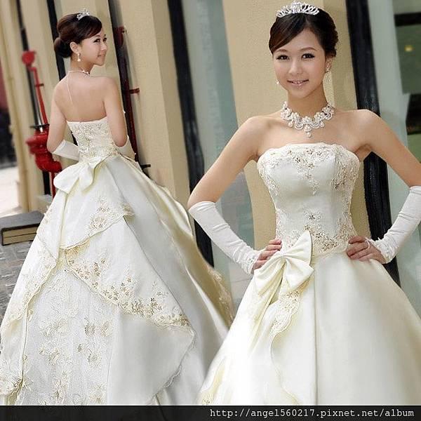 繡花婚紗3