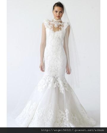 魚尾裙襬婚紗1