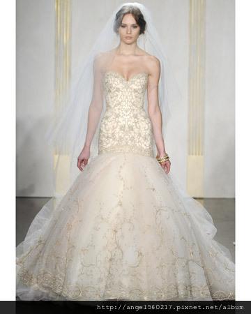 魚尾裙襬婚紗2