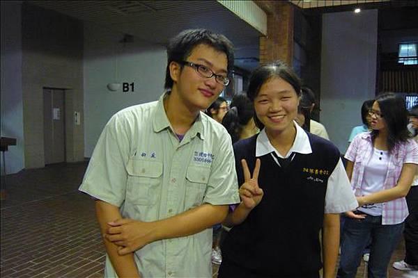 學長 and me