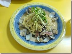 蒜香蛤蜊麵2