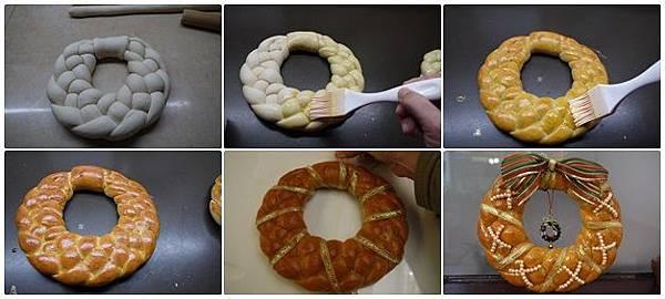 聖誕麵包圈做法