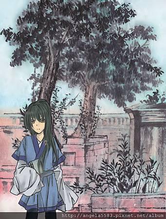 水墨-舊景紅沿墨