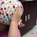 可愛的小花頭巾
