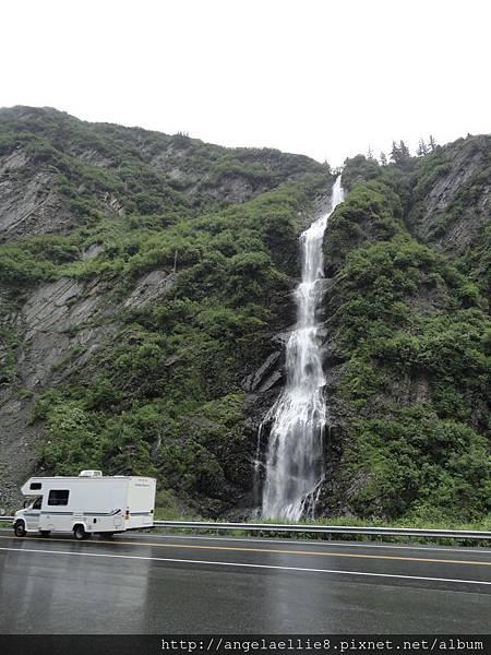 on the way to Valdez Keystone Pass Bridal Veil Falls