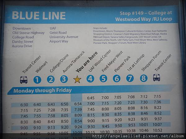 Blue Line in Fairbanks