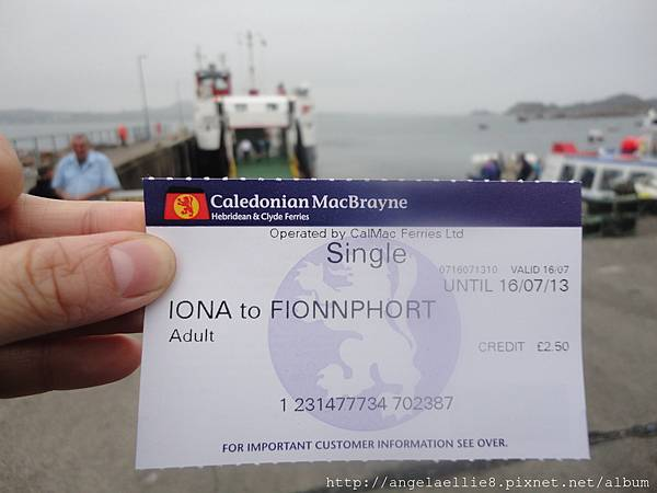 Finnphort Staffa ticket