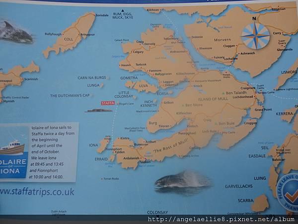 Staffa location map
