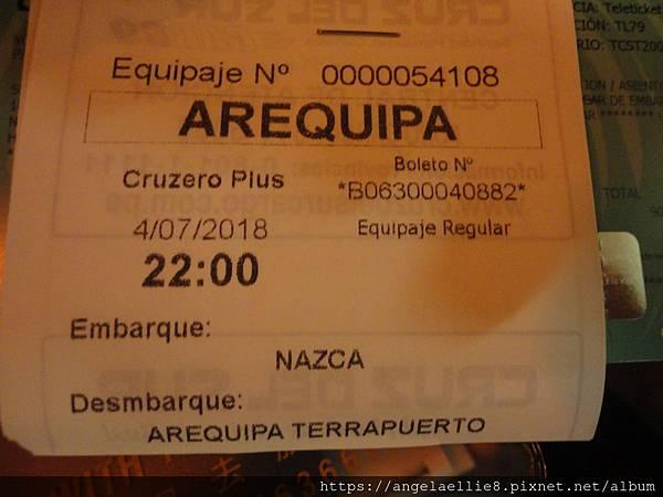 Nasca Cruz del Sur bus
