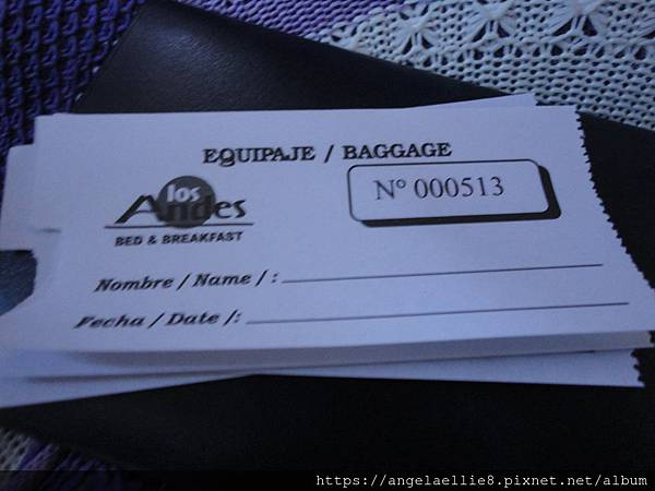 luggage ticket