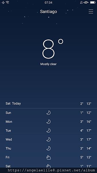 Santiago weather