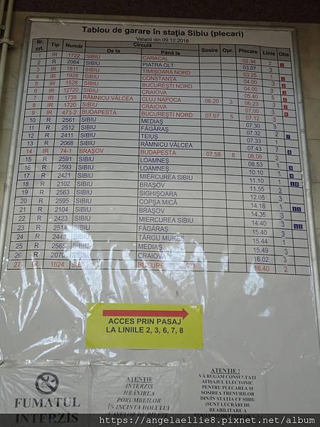 Sibiu Train Timetable