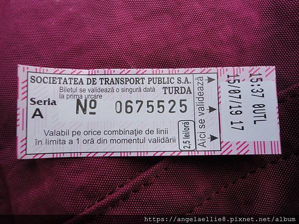 Salida~Turda bus ticket