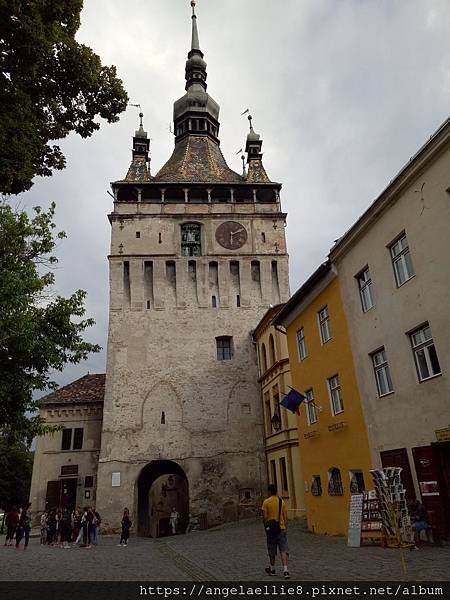 Sighisoara old town  Fortress square