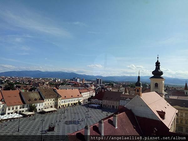 Sibiu Turnul Sfatului議會塔 大廣場
