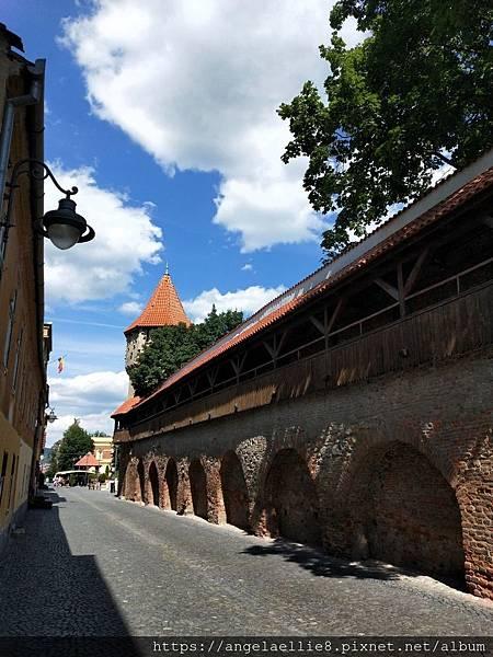 Sibiu Str.Cetatii老城牆