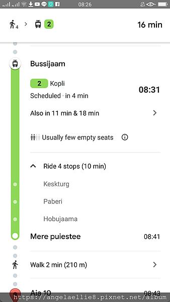 Tallinn Bus Station to hostel