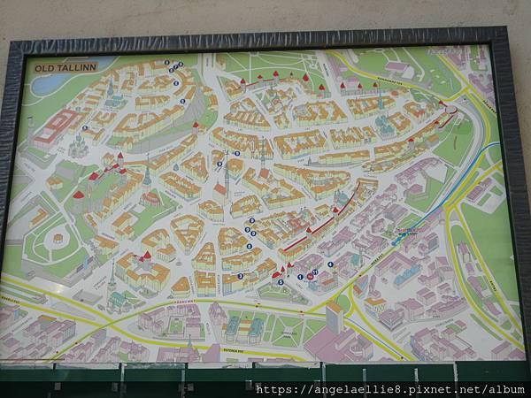 Tallinn Old Town map