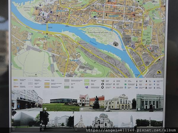 Kaunas map