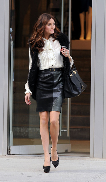 what-to-wear-with-Leather-skirt